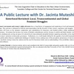 Lecture Dr. Jacinta Muteshi March 8, 2012