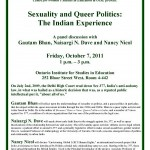 Sexuality and Queer Politics the Indian experience October 7, 2011