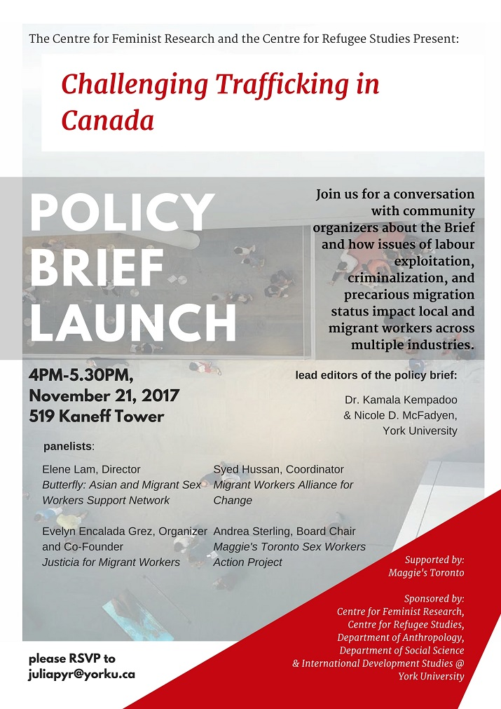 Challenging Trafficking in Canada Policy Brief Launch
