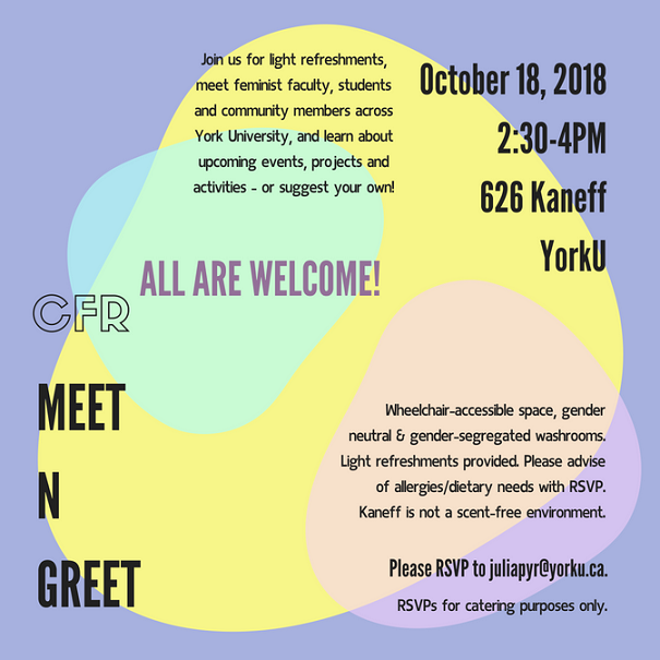 CFR Meet n Greet! @ 626 Kaneff Tower, York University | Toronto | Ontario | Canada