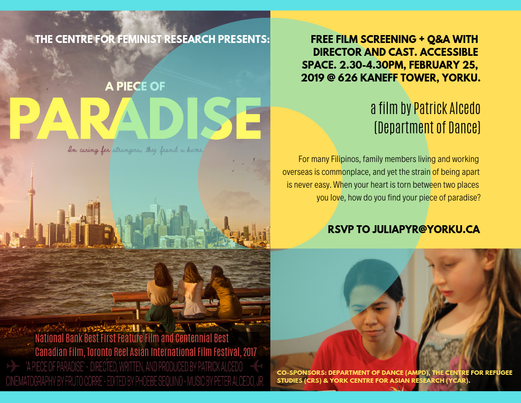 """A Piece of Paradise"" Film Screening @ 626 Kaneff Tower"